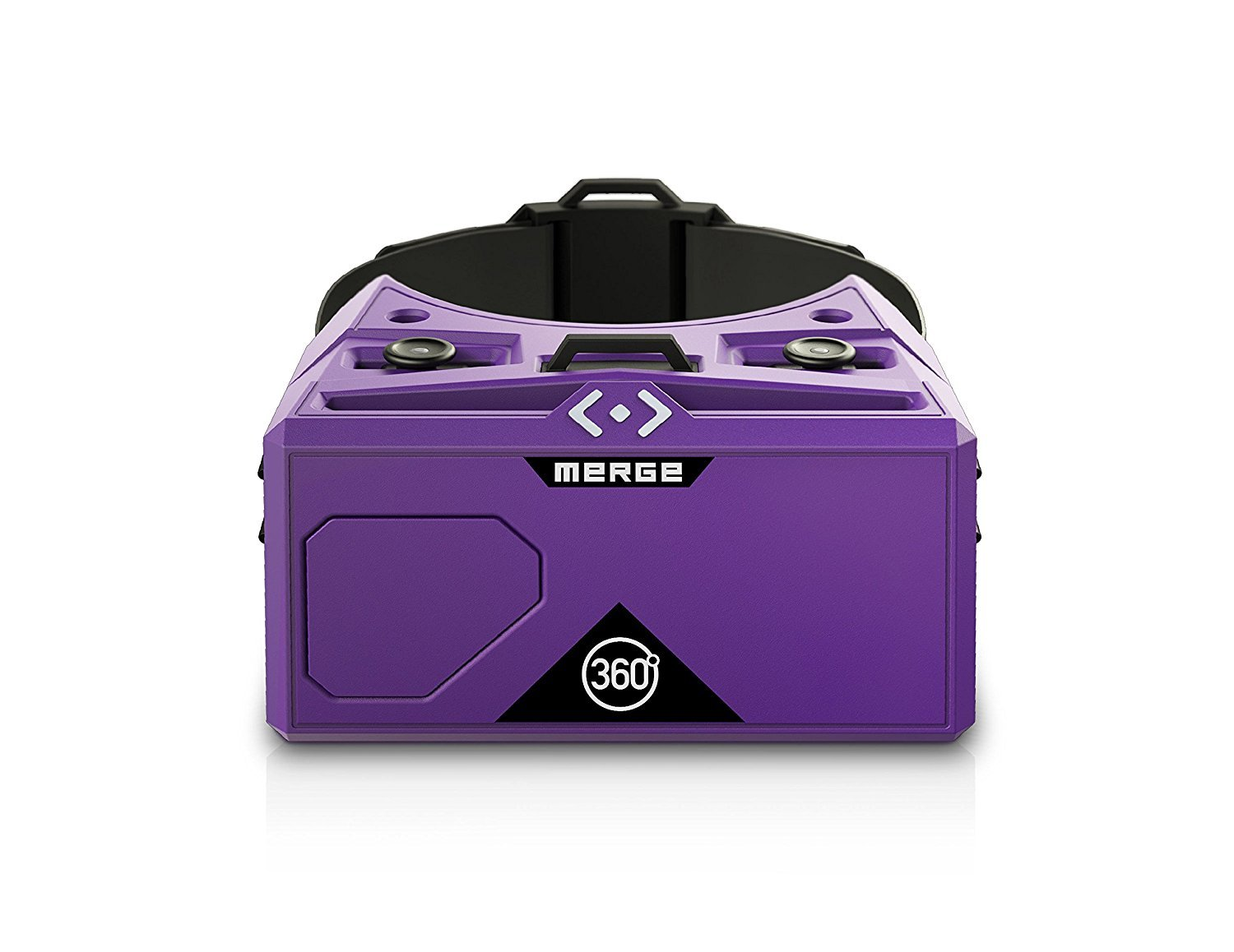 Merge VR/AR Goggles - Virtual and Augmented Reality Headset for iPhone and Android - Adjustable Lenses, Dual Input Buttons, Soft and Comfortable, Easy to Clean and Share, For Kids 10+ (Pulsar Purple)