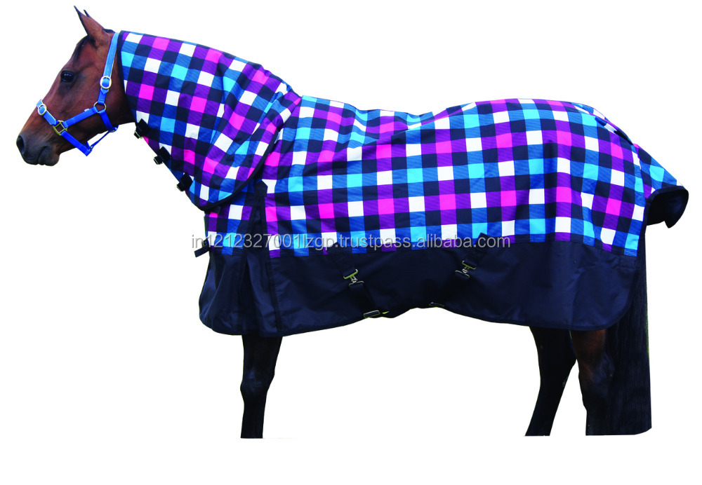 Printed winter turnout horse rug/horse blanket/horse care sheet