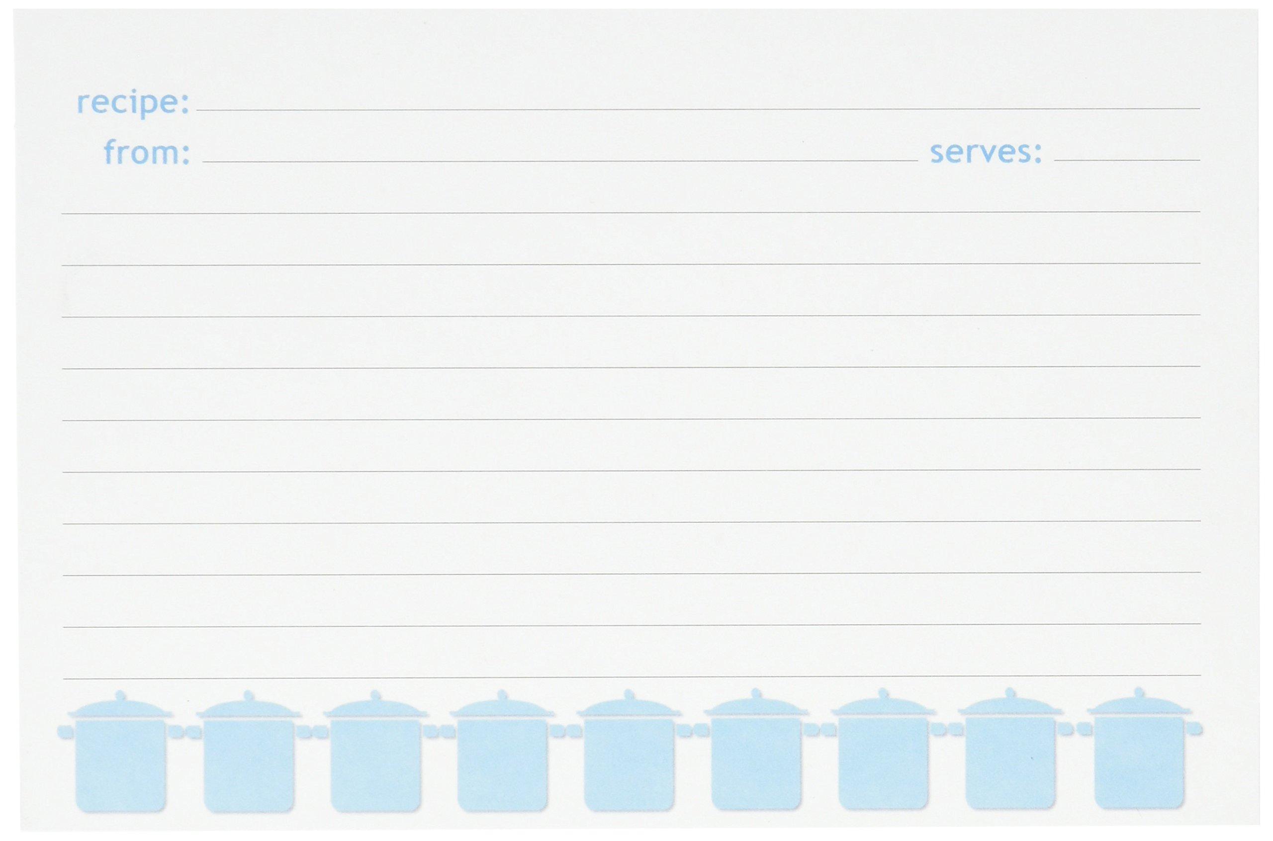 Meadowsweet Kitchens Recipe Card Set - Turqoise/Gray