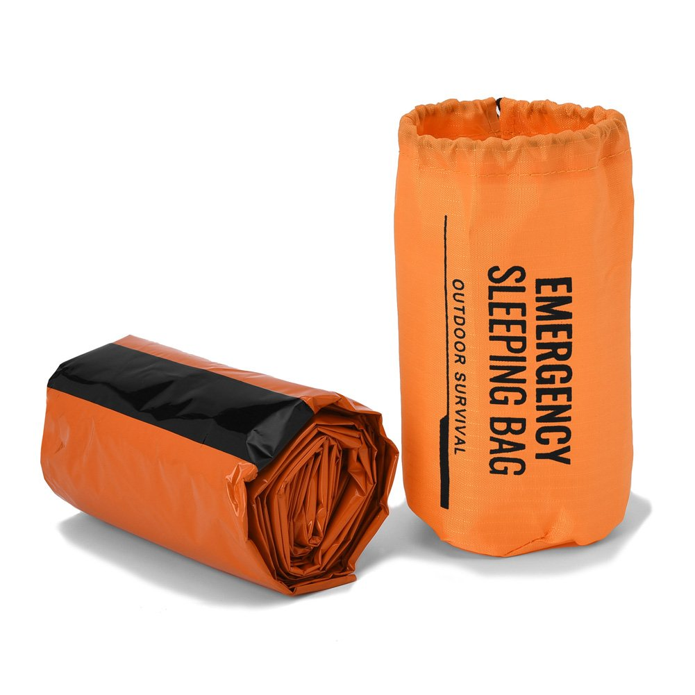 Camping & Hiking Sleeping Bags Emergency Survival Sleeping Bag Easy Heat Insulation Compact Outdoor First Aid Gear Waterproof Bivy Sack For Camping Hiking Ba
