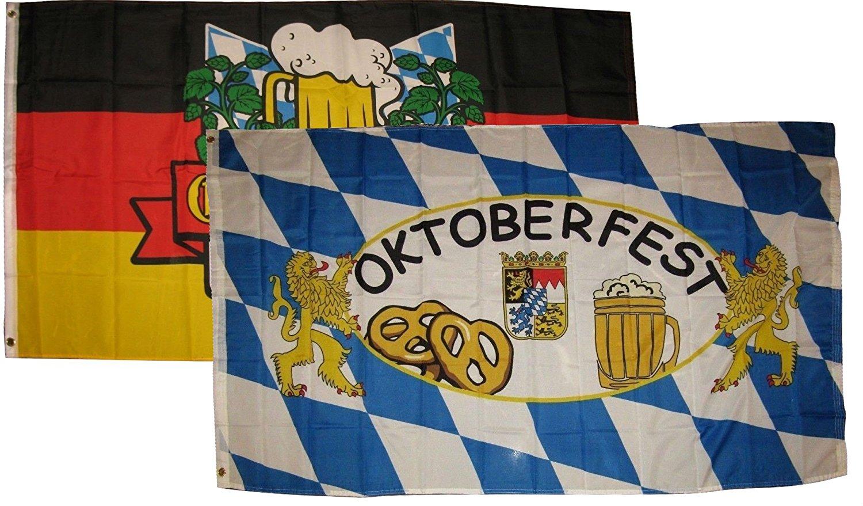 3x5 3'x5' Wholesale Combo Bavarian Bavaria German Germany Oktoberfest Flag Fade Resistant Double Stitched Premium Quality