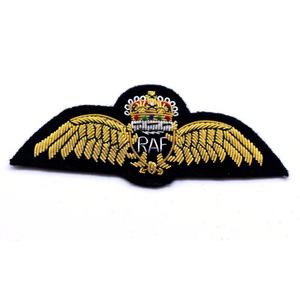 RAF regimental bullion Hand made blazer wing/military RAF bullion badge