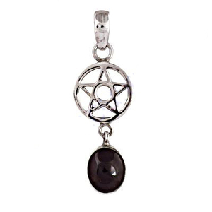 Star Shape Pendent With Tourmaline 925 Silver Pendant