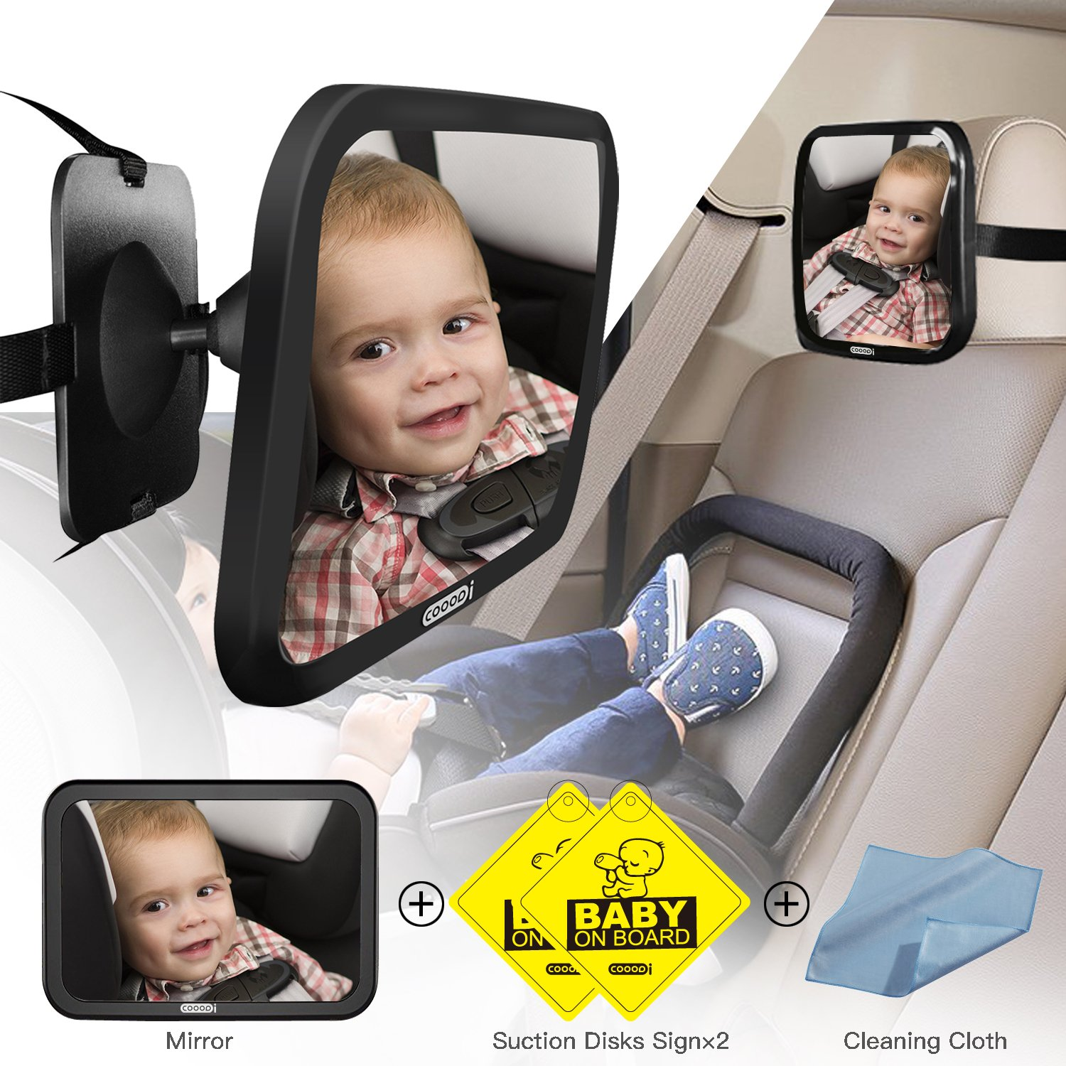 Get Quotations Baby Seat Mirror For Car COOODI Back Rear Facing