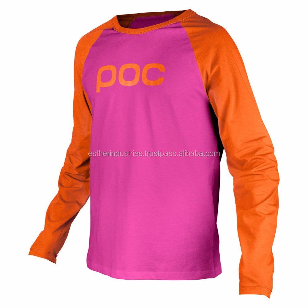 Raglan Jersey Long Sleeve T Shirt Custom Baseball Sublimation