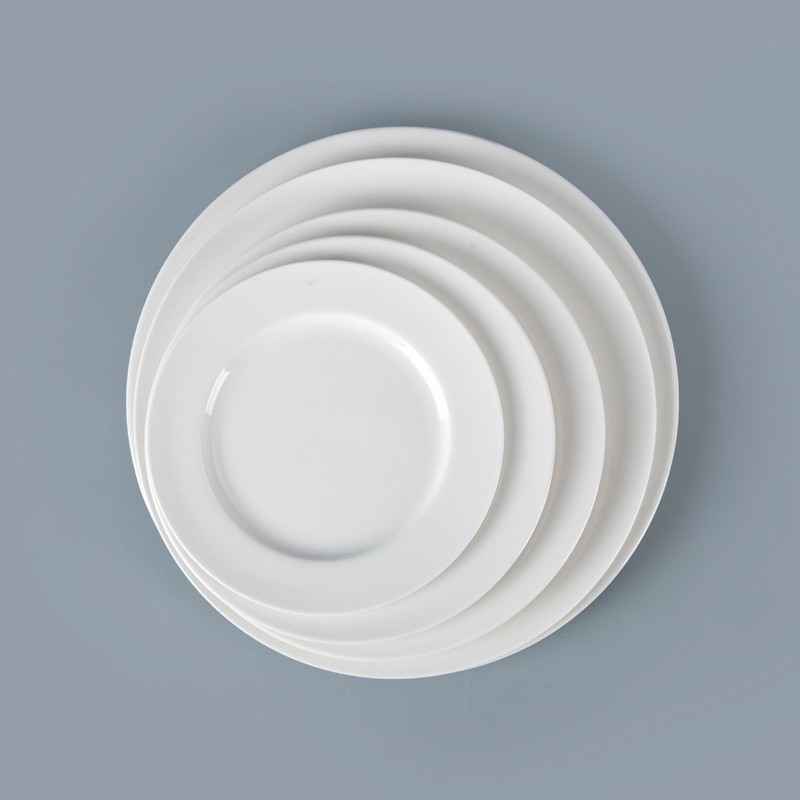 product-14 Inch White Dinner Plate, White Porcelain Crockery Hotel Porcelain Plates-Two Eight-img-1