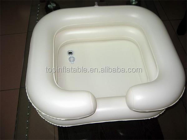 Medical inflatable shampoo basin hair washing basin with water bag
