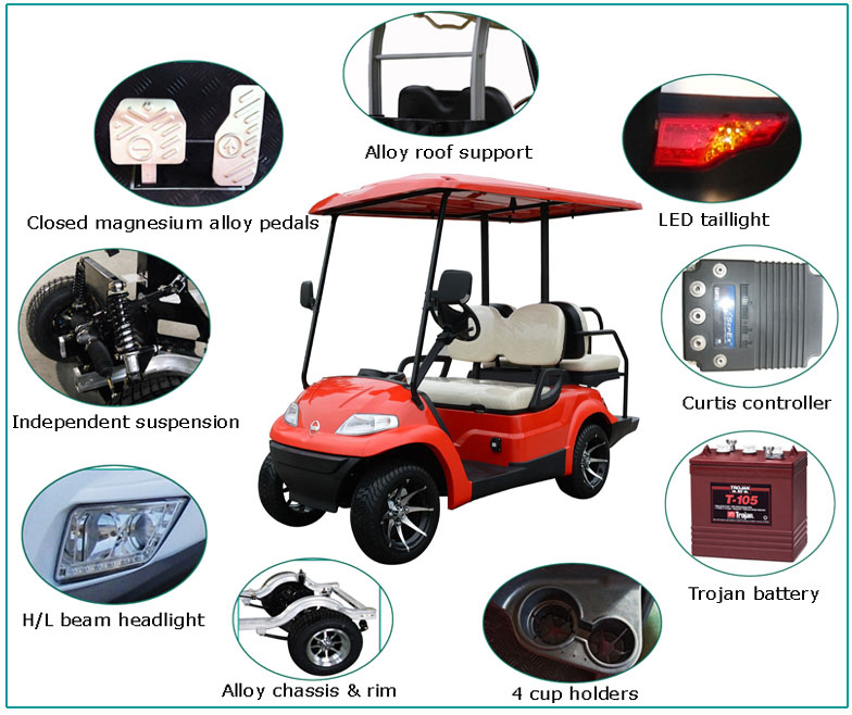 6 Seater Battery Gas Powered Golf Cart Electric Golf Club