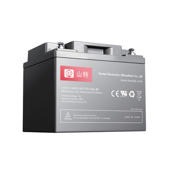 Maintenance Free Lead Acid Battery stk Castle battery 12V 38AH SANTAK