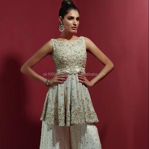 Pakistani Peplum Style Party Wear Wedding Dresses