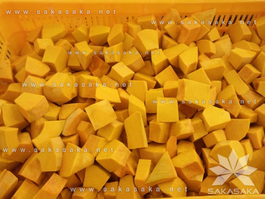 Frozen Pumpkin Dice/Chunk/Cube From Vietnam