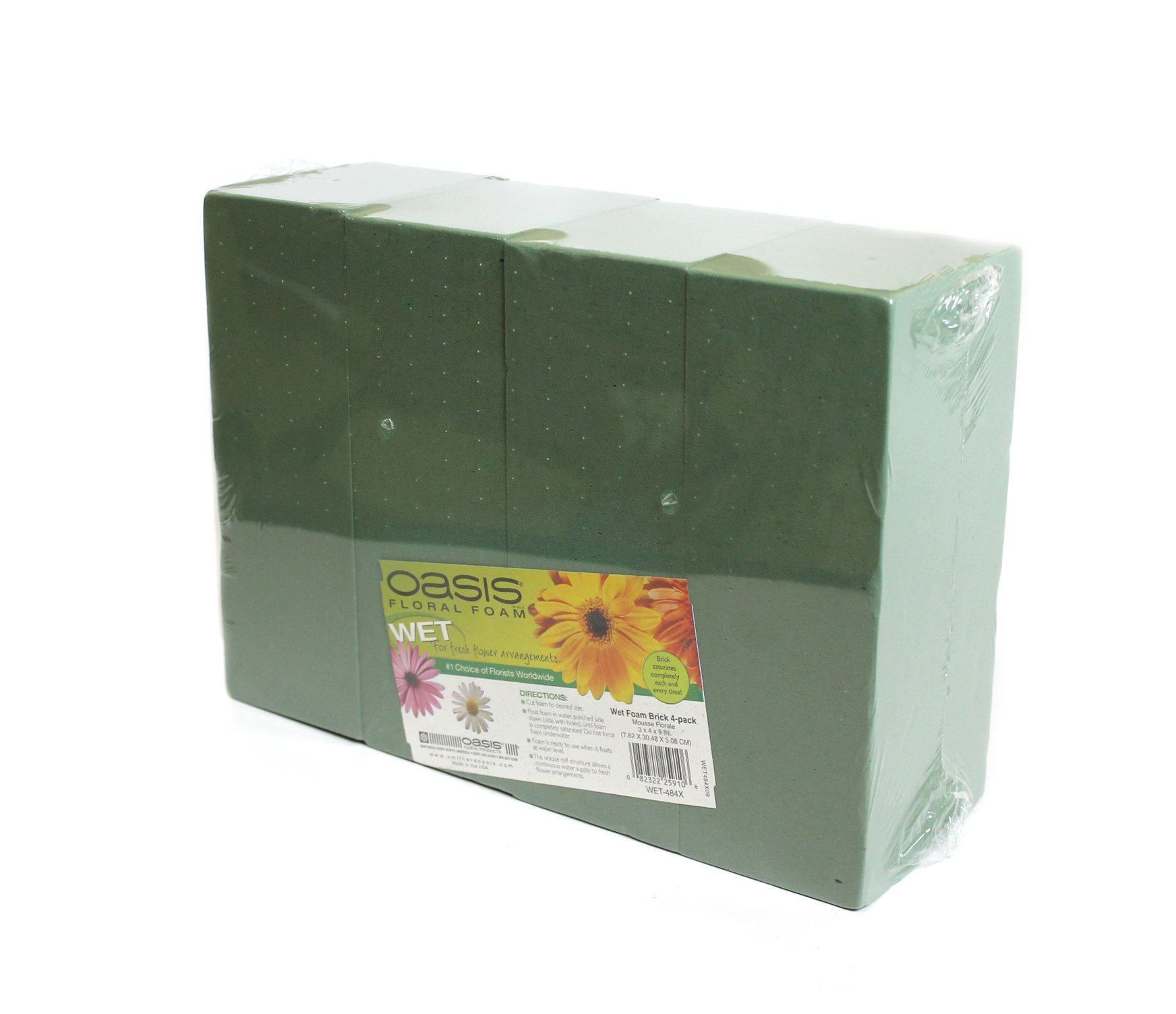 Oasis Floral Foam Bricks Standard Maxlife Pack of 4