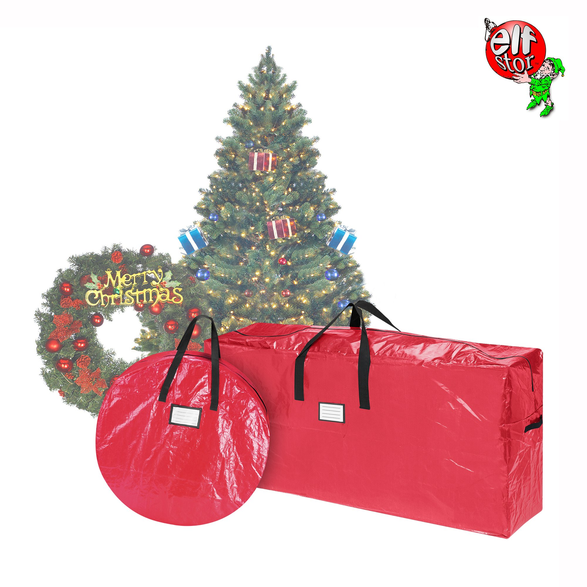 get quotations elf stor storage combo christmas tree storage bag 30 inch wreath bag