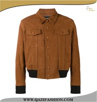 Classic Style Camel Color Custom Made Leather Motorcycle Jacket