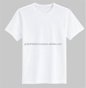 100% combed cotton single jersey Mens plain t-shirts