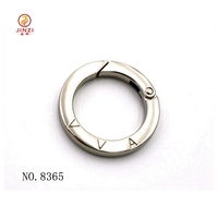 Die-casting metal clasp OEM Fashion Spring O ring for bags