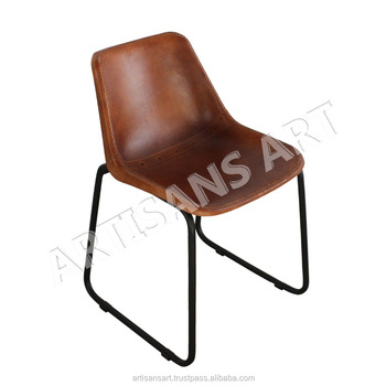 Surprising Industrial Leather Dining Chair Leather Cafe Chair Vintage Upholstery Home Furniture Buy Leather Chair Restaurant Chair Dining Leather Chairs Machost Co Dining Chair Design Ideas Machostcouk