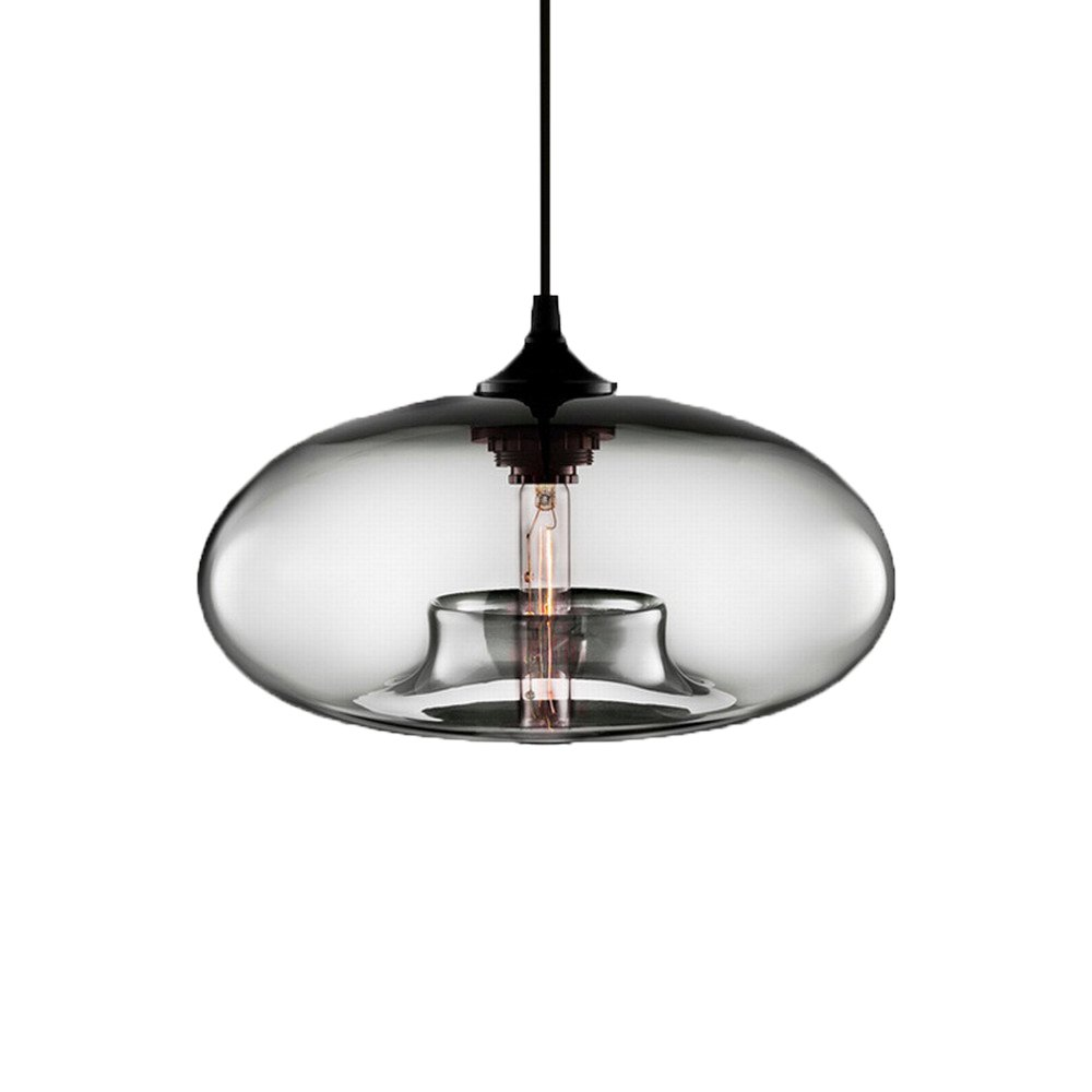 Modern Simple Hanging Glass Pendant Lighting for Kitchen Island Light Fixtures (Clear)