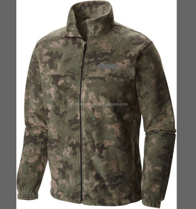 Army Camouflage Wholesale Men's Fleece Jacket /Bangladesh Made High Quality Fashionable Fleece Army Print Jacket