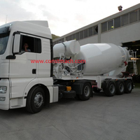 15 m3 SEMI TRAILER CONCRETE MIXER