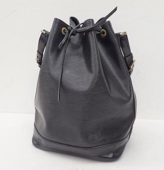 0349a8ac8bcd Used brand Handbag LOUIS VUITTON M44002 BLACK EPI Noe Shoulder bags for  bulk sale.