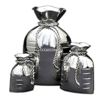Unique Wedding Return Gift Favor Idea Silver Plated Vase Brass Gunny Bag Shape Buy Wedding Return Giftwedding Return Gift Ideassilver Plated Vase