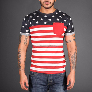 T-shirt Round Neck with country flags