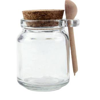 Wholesale Seasonings Glass Jar with Spoon and Cork