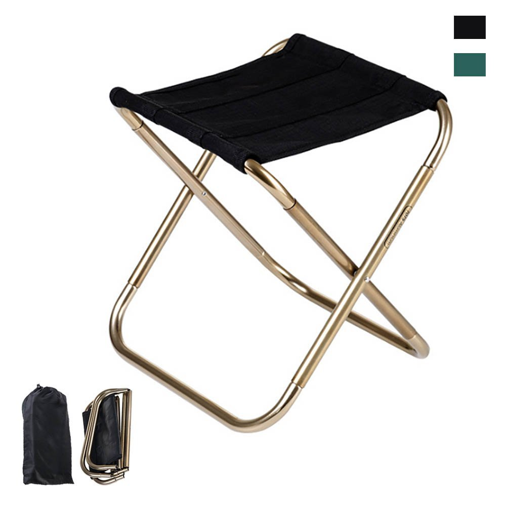 Folding Chair,iDeep 420D Nylon 7075 Aluminum Alloy Portable Folding Stool Camping Stool Fish Chair Camping Chair with Carry Bag Max load 165lbs for Travel Camp Fishing Picnic 9.4x5.5in