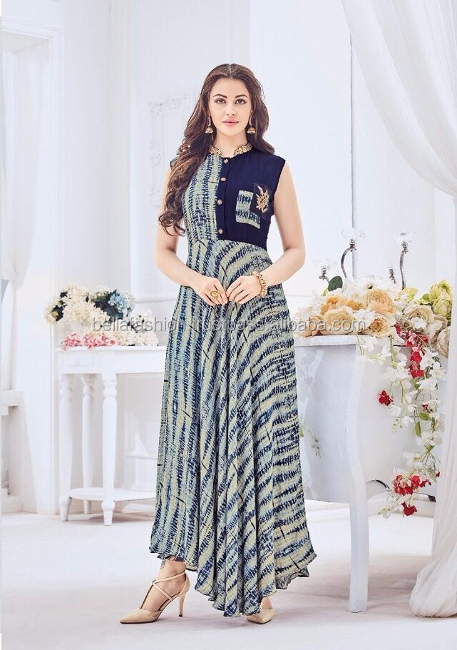 3bfb8431f Latest Modern Fancy Bollywood Floor Touch Western Designer Special  Beautiful looking Party Wear Kurtis For Women and Girls Dress
