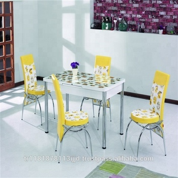 Kitchen Table + 6 Chairs Economic Price High Quality Turkish Design