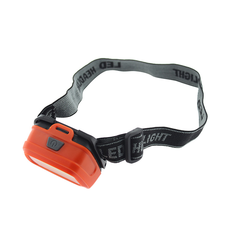 New Hot Plastic LED And COB Mini Headlamp With Rubber Button