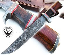 Damascus Bowie mes/Damascus <span class=keywords><strong>Jachtmes</strong></span>/Damascus Vaste Mes RJX00974