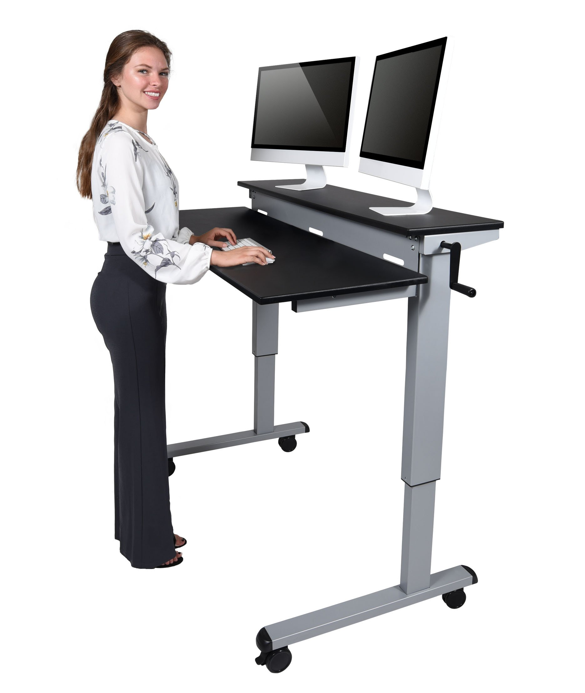 up product dw inquiry crank standup desk stand luxor adjustable