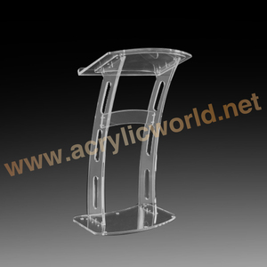 Wholesale Glass Lectern Stand Clear Acrylic Podium