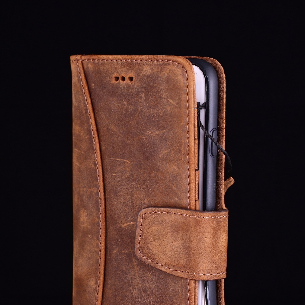 Wallet flip leather case for mobile phone