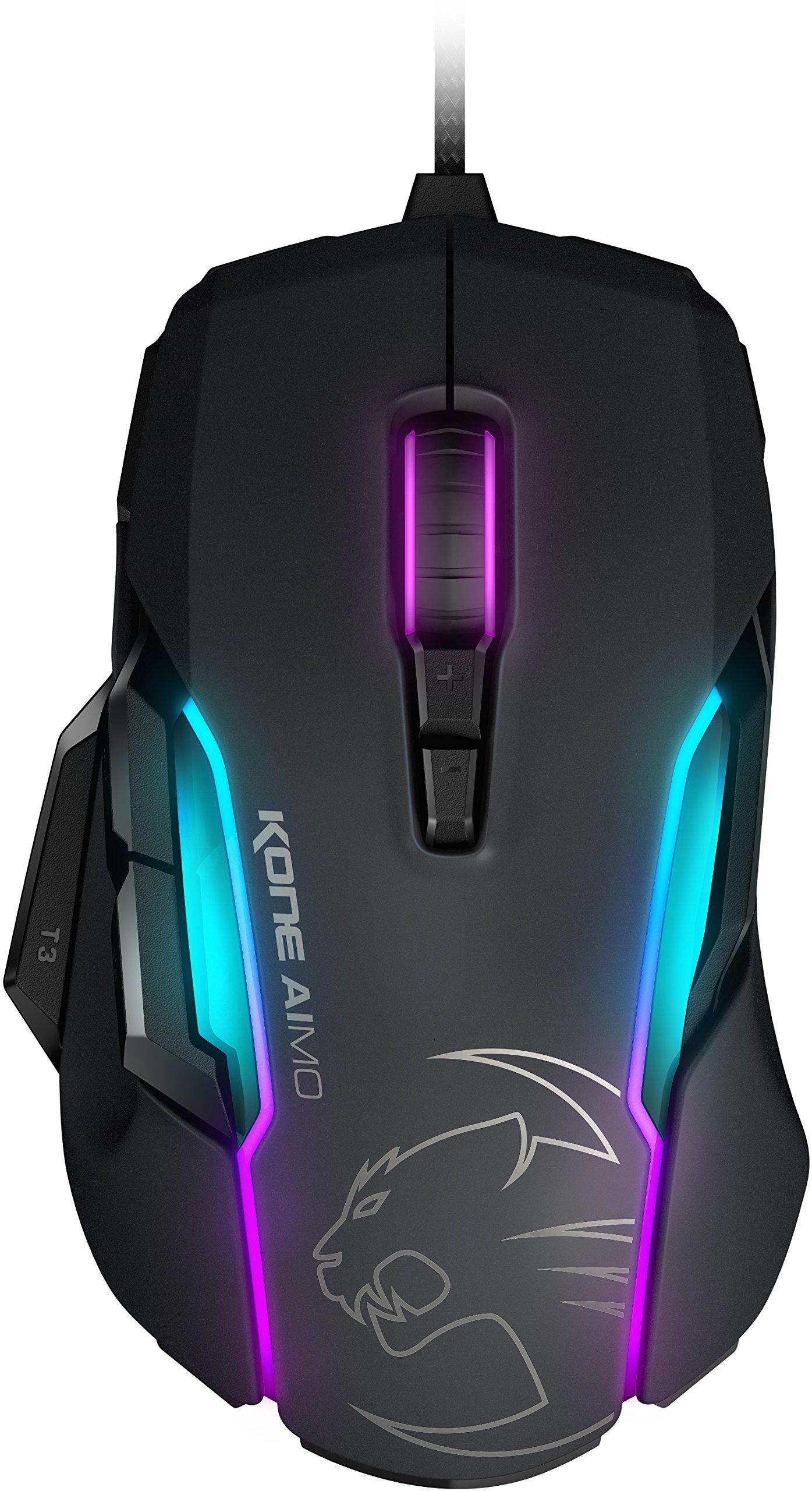 ROCCAT KONE AIMO - RGBA Smart Customization Gaming Mouse, Black (ROC-11-815-BK)