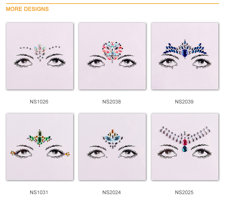Wholesale Factory Price Festival Face Jewels Face Gems Sticker