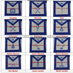 Masonic Regalia Blue lodge Officer Aprons