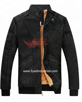 Motorbike quality Leather Jacket With Ventilation zippers