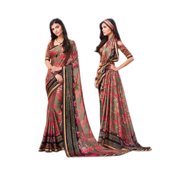 Gery Silk Party Wear Designer Saree/Online Shopping For Clothing/New Collections Of