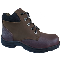Maroon Color Steel Toe Cap Safety Men Hiking Shoes with Fabric Collar Malaysia