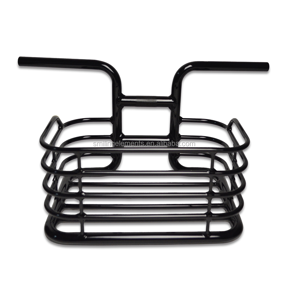 Alloy Bicycle handlebar with metal basket