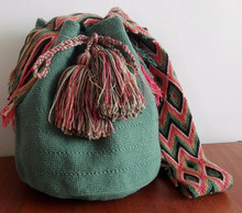 Genuine Wayuu Mochila from Colombia. Fall and winter colors
