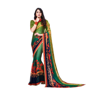 Multi Color Silk Party Wear Designer Saree/New Collections Of Silk Sarees/Online Shopping For Clothing