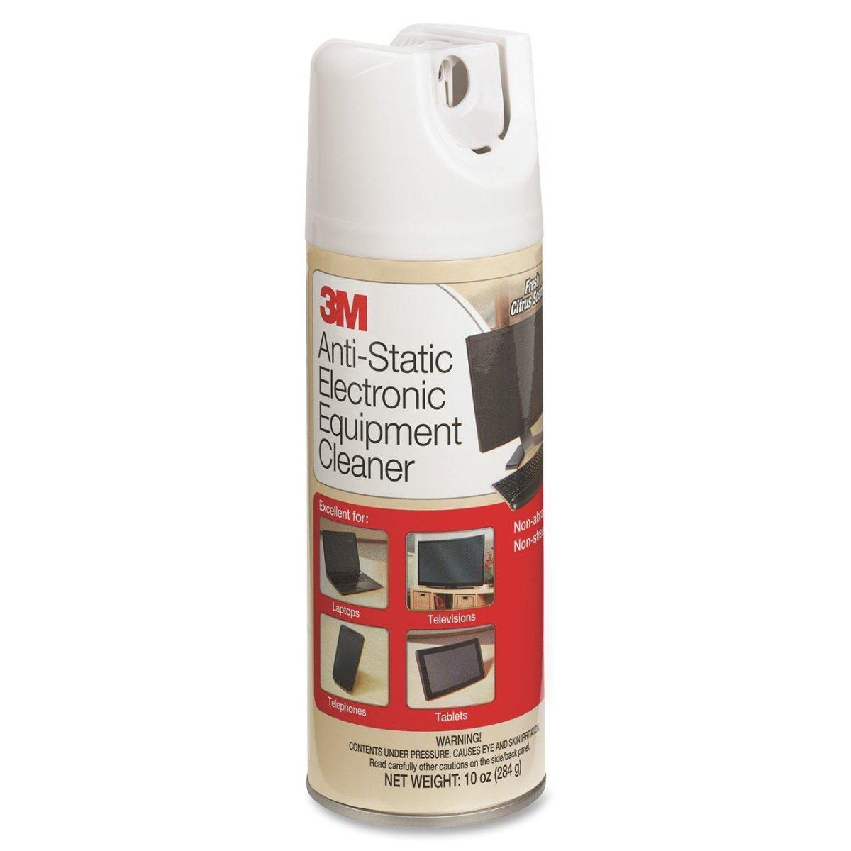 3M/COMMERCIAL TAPE DIV. Antistatic Electronic Equipment Cleaner, Oil/Wax-Free, 10oz Aerosol (CL600)
