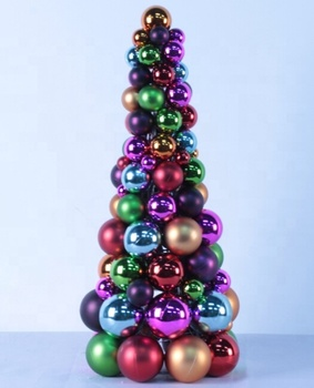 wholesale 20inches Christmas baubles ball tree for outdoor ornaments