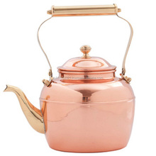 100% copper tea kettle with brass handle