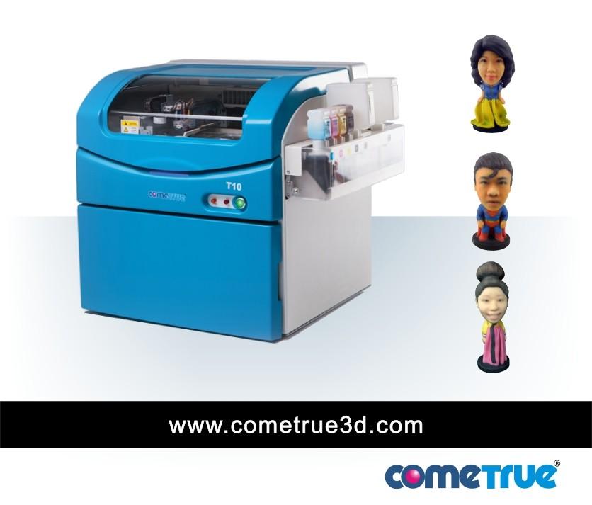 Cometrue 3d Full Color 3d Powder Printer For Figurines