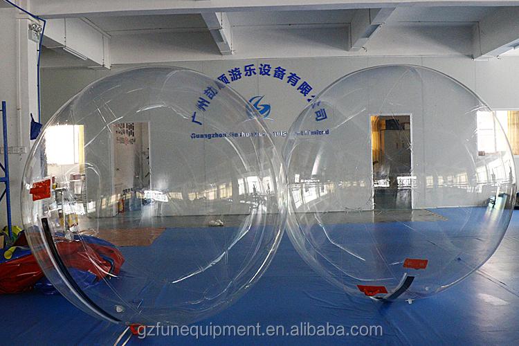 Gestreiften farbe wasser spiele aqua zorbing aufblasbare wasser zu fuß ball für verkauf